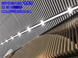 珠海铝方通 90x35方管铝型材 高铁站铝方通天花幕墙造型 铝合金3D木纹凉亭