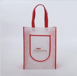 定做环保丝印手提袋折叠平口购物袋厂家定制LOGO