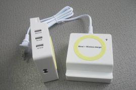 无线快充3usb桌面式座充无线快充7.5W/10W