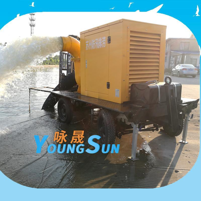 防汛排水排澇四輪移動泵車 1000立方柴油機水泵