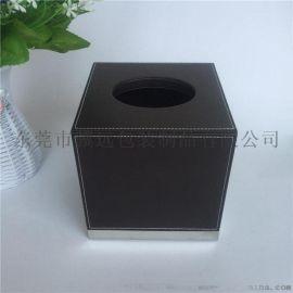 PU皮革纸巾盒纸抽盒KTV餐巾盒居家卷纸盒