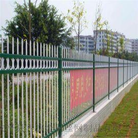 工厂院墙护栏、锌钢护栏栏杆、围墙隔离护栏