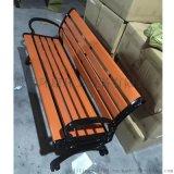 公园椅 铸铝脚大八字实木座椅 现货供应