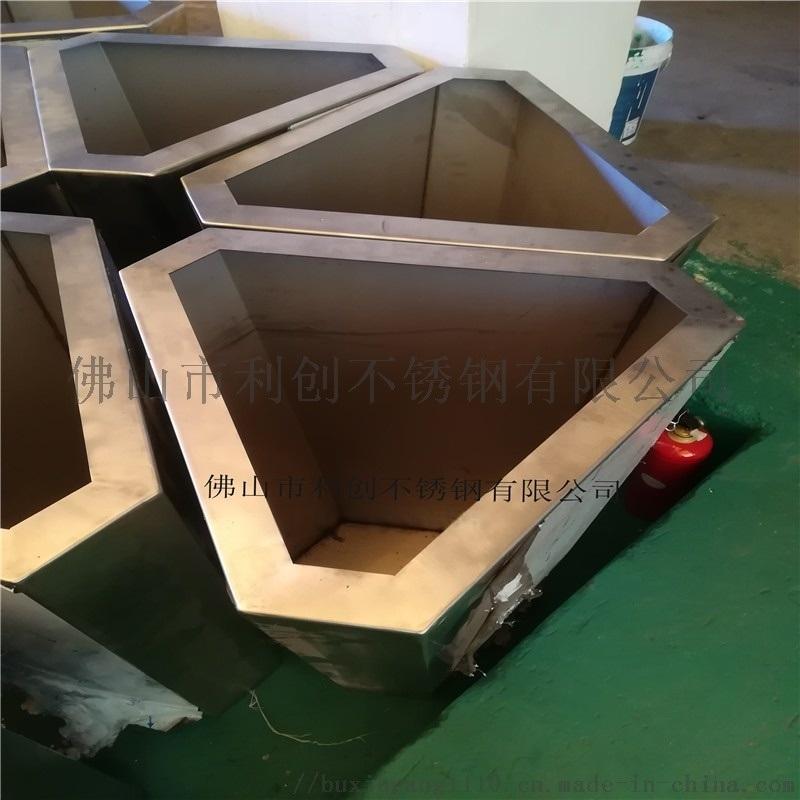 不锈钢花盆定制创意组合金属花箱
