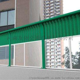 道路隔音板护栏 白叶孔吸音屏 定制高速公路声屏障
