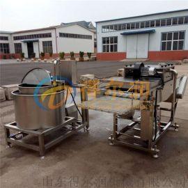 客户试机肉排裹粉机 A-6自动不锈钢肉条上浆裹糠机