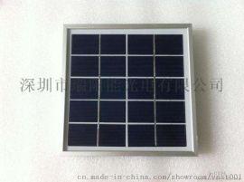 户外灯具太阳能电池板 单多晶玻璃铝框5W太阳能小板