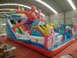 雲南曲靖新款設計的充氣城堡親子遊樂設備