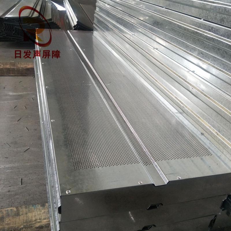 大量銷售除塵風機空調機組隔音牆廠區小區百葉衝孔網板隔音牆