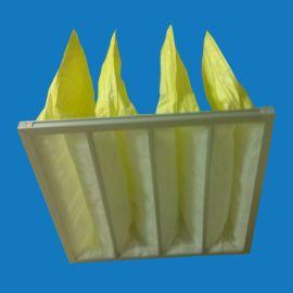 F8级中效过滤袋 中效无纺布过滤袋 黄色无纺布