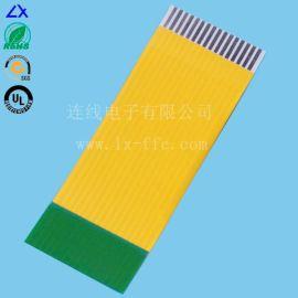 广东FFC排线厂家批量提供黄色pi胶膜FFC扁平线 FPC线 FFC数量线