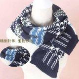 D006 韓國秋冬女士仿羊絨圍巾圍脖 兩用格子圍巾超長披肩圍巾批發