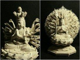 木雕佛像|千手观音菩萨|佛像定做定制|迎善永安厂家直销