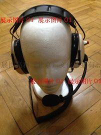 对讲机头戴式耳机静噪对讲耳机头盔安全帽