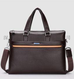 欧美新款时尚公文包男士手提单肩挎包手提ipad电脑包手提包商务型公文包