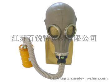 天然橡胶头套式防毒面具 防毒面具 过滤式防毒面具
