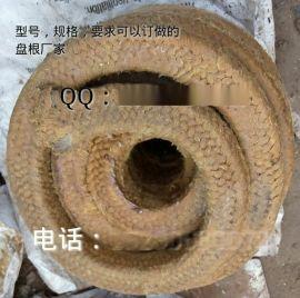 石棉浸黄油牛油盘根/棉纱浸油盘根 6*6黄油绳 水泵密封材料