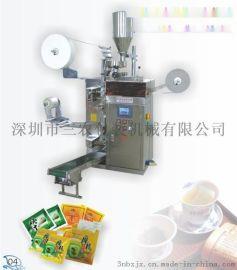 内外袋带线带标代用茶包装机,内外袋带线带签袋泡茶包装机