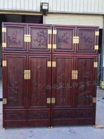 西安仿古家具│仿古衣柜│红木衣柜│实木衣柜│榆木衣柜供应