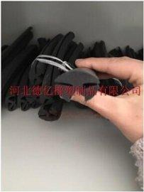 厂家特供 防撞条橡塑胶条 耐磨损三口胶条 密封挡风胶条
