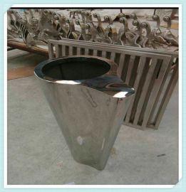 厂家供应酒店花盆摆件不锈钢钛**盆异形不锈钢组合花盆镜面花钵