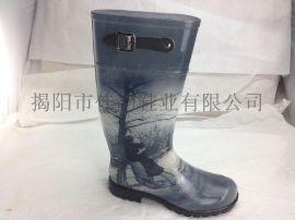 厂家供应2015新款时尚女士高筒雨鞋