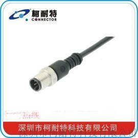 柯耐**应 M12防水连接器 水族器材、LED显示屏专用 5芯、8芯带线式