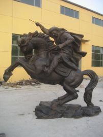 树林铜雕生产各种大型铜雕塑,骑士,铜佛像,