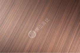 高比304#拉丝红古铜发黑不锈钢板 彩色不锈钢镀铜板