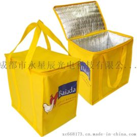 上海保鲜冷藏立体袋 铝箔气泡保温材料 生鲜快递包装