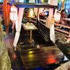 仿古觀光旅遊道具景觀裝飾餐飲木船水上吃飯的烏單篷船