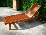 广州易居批发定制实木躺椅户外躺床阳台躺椅沙滩躺椅泳池椅