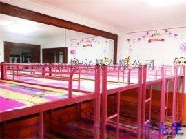 三门峡儿童实木高低床 幼儿园上下铺 儿童铁架床厂家