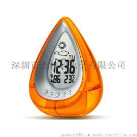 水发电时钟不用电池水发电环保创意气象时钟