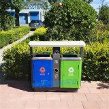 不锈钢户外垃圾桶不锈钢双桶果皮箱分类公园垃圾桶