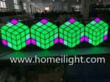 LED 3D立体魔方背景墙 七彩3D魔方背景墙