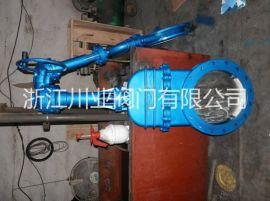 伞齿轮对夹式刀型闸阀PZ573H-10C