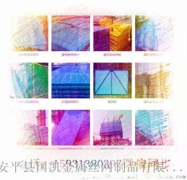 建筑外墙两广喷塑爬架网片    圆孔喷塑爬架网片     爬架网片