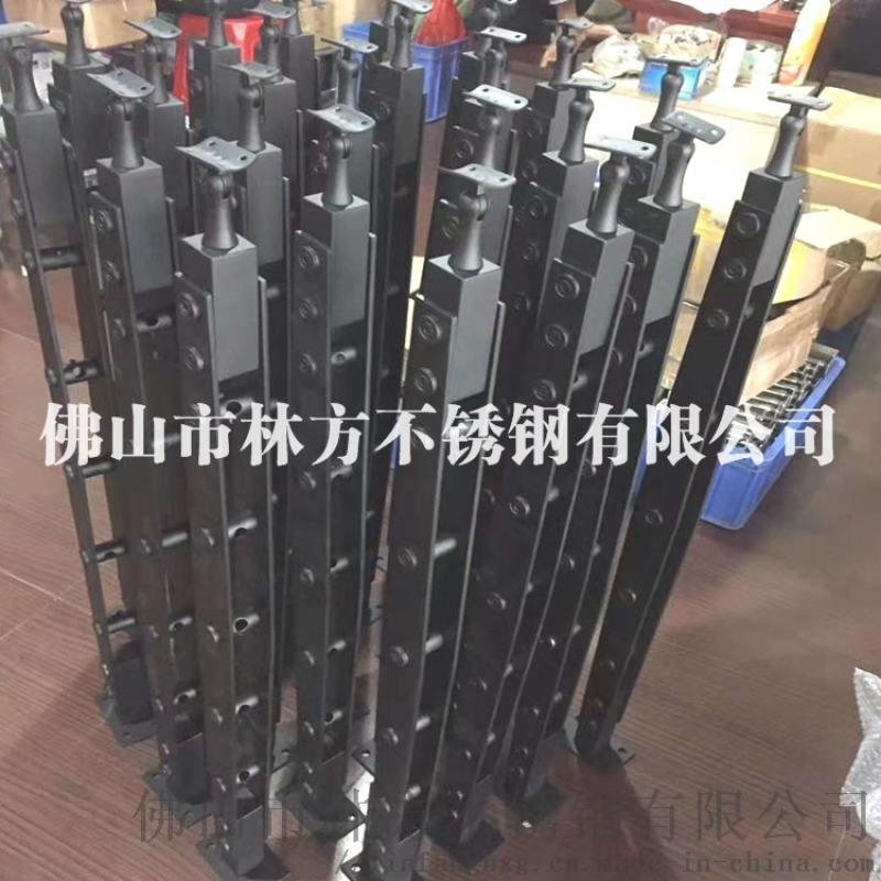 廠家直銷不鏽鋼樓梯立柱 不鏽鋼樓梯覆膜鍍色立柱