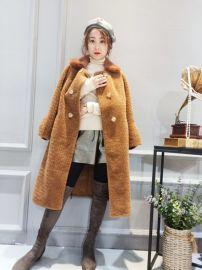 珍维诗妮颗粒羊剪绒新款女装品牌折扣直播一手货源网