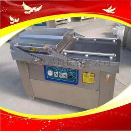 食品厂抽真空封口机设备不锈钢双室真空包装机