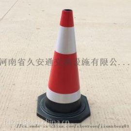 厂家直销70公分交通塑料路锥雪糕筒PE塑料路障定制