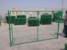 框架护栏网,边框式接片网,框架隔离栅