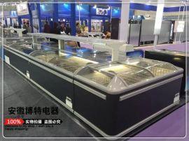 超市节能组合岛柜,饺子元宵冷冻展示柜