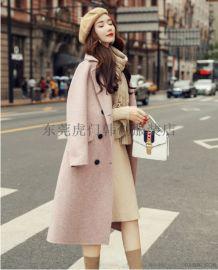 廣東哪裏有秋冬呢子大衣羽絨服擺地攤長款外套供應價格