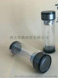 西安**玻璃杯销售,礼品玻璃杯双层内胆印字
