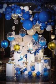 昆明百日宴氣球布置生日宴氣球裝飾壽宴氣球布置