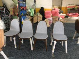 现代简约家用北欧餐厅实木椅子靠背凳子