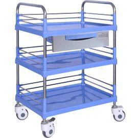 SKR004B 钢塑多功能推车 医用护理推车 静音推车