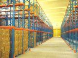 供應倉庫產品品項單一且量大的通廊式駛入式重型貨架